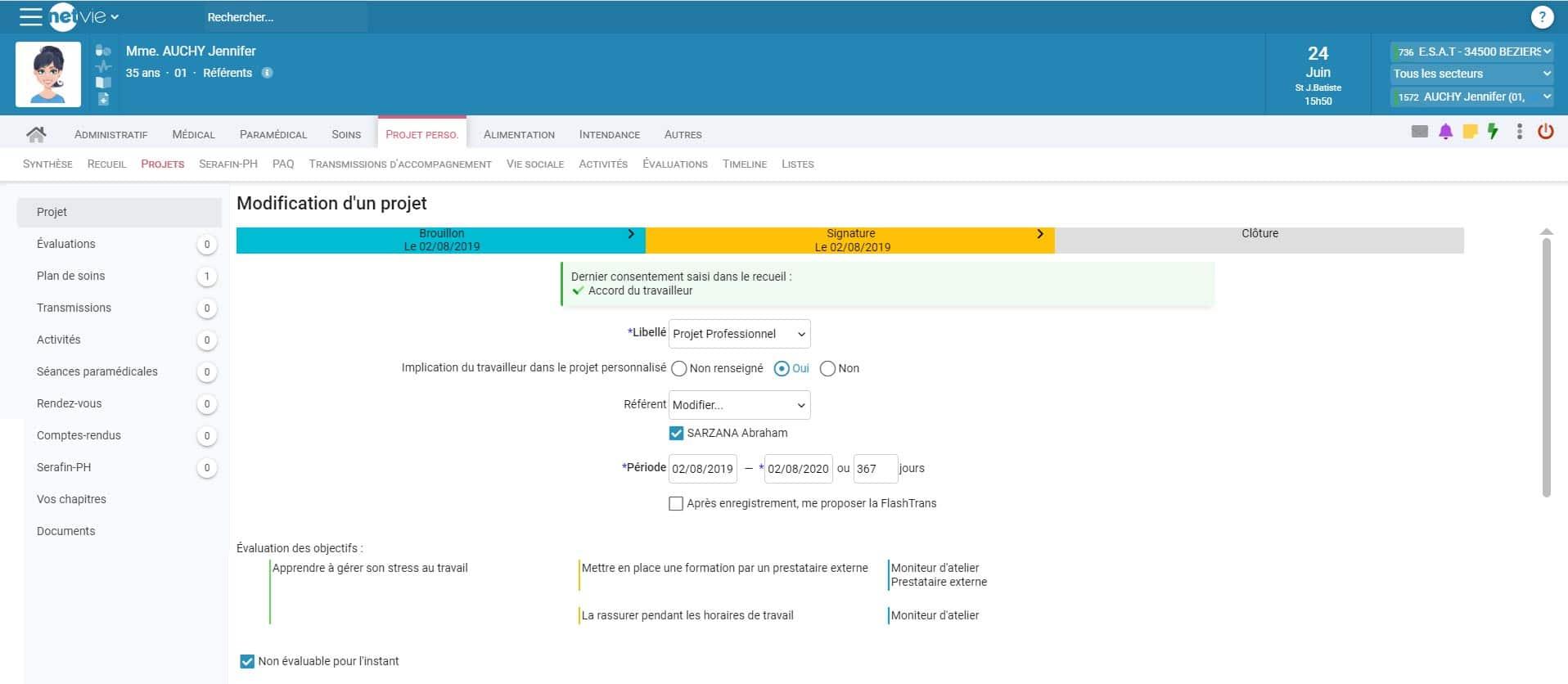 capture ecran logiciel NETvie